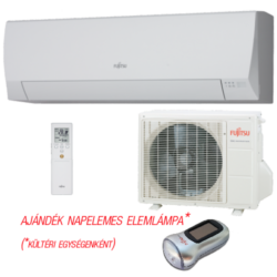 FUJITSU ASYG07LLCC/AOYG07LLCC (kültéri + beltéri egység) oldalfali split klíma 2 kW Hősziv, Inverter, R410A