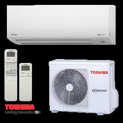 Toshiba RAS-10PKVSG-E Suzumi Plus (kültéri + beltéri egység) Oldalfali split klíma 2,5 kW, Hőszivattyús , R32